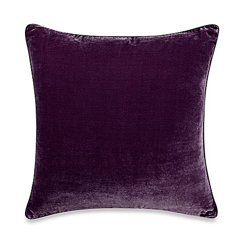 Tracy Porter Poetic Wanderlust Kit Solid Velvet Square Throw Pillow in Purple - Bed Bath & Beyond