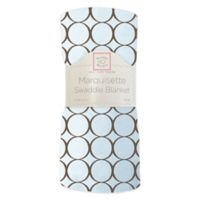 Swaddle Designs® Circles Lightweight Marquisette Swaddling Blanket in Blue and Brown