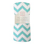 SwaddleDesigns® Chevron Marquisette Swaddle Blanket in Turquoise