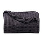 Kenneth Cole Reaction Home Waffle Full/Queen Blanket in Black