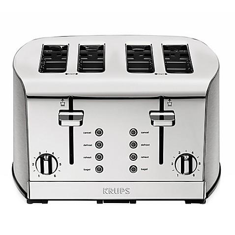 krups 4 slice toaster bed bath beyond rh bedbathandbeyond com Krups Toaster Oven Krups Toaster Oven
