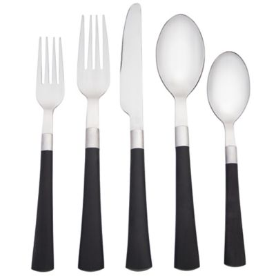 noritake colorwave 5piece flatware place setting in graphite