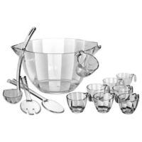 Prodyne Acrylic 12-Piece Punch and Salad Bowl Combo Set