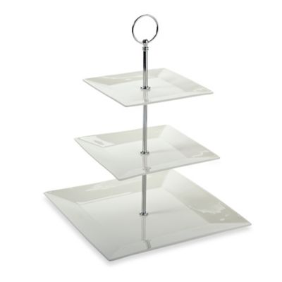 maxwell u0026 williams white basics 3tier cake stand