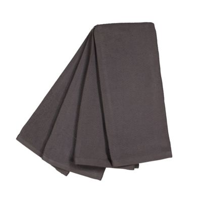 Genial Dual Purpose 4 Pack Of Kitchen Towels In Grey