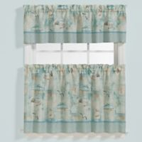 High Tide 24-Inch Window Curtain Tier Pair