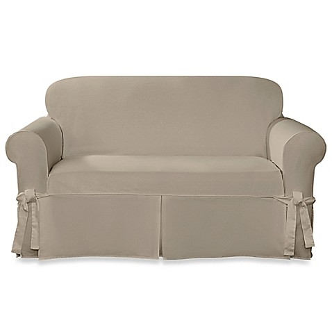 Sure Fit 174 Designer Twill Loveseat Slipcover Bed Bath