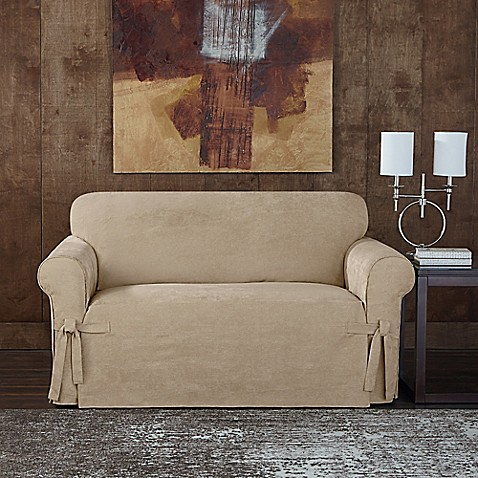 Sure Fit 174 Designer Sueded Twill Loveseat Slipcover Bed