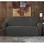 Sure Fit® Designer Sueded Twill Sofa Slipcover in Grey