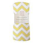 Swaddle Designs® Marquisette Swaddling Blanket in Yellow Chevron