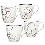 Noritake® Platinum Wave Star/Reindeer/Candy Cane/Stocking Holiday Mugs (Set of 4)