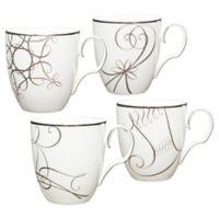 Noritake® Platinum Wave Star/Reindeer/Candy Cane/Stocking Holiday Mugs (Set of 4)