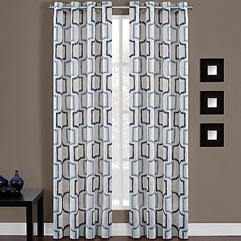 Portinari grommet top window curtain panel bed bath beyond for Bed bath and beyond curtains for living room