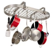 Enclume® Low Ceiling Oval Rack with Grid in Brushed Stainless Steel