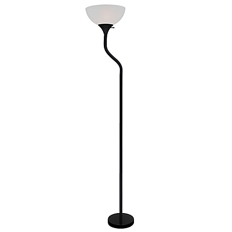 Equip your space bendy floor lamps in matte black bed for Etagere floor lamp bed bath and beyond