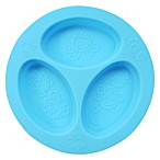 oogaa® 4 oz. Silicone Divided Plate in Blue