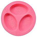 oogaa® 4 oz. Silicone Divided Plate in Pink