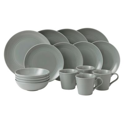 buy gordon ramsay by royal doulton maze 16 piece dinnerware set in teal from bed bath beyond. Black Bedroom Furniture Sets. Home Design Ideas