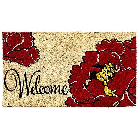 Welcome Poppy Coir Door Mat Insert Bed Bath Amp Beyond