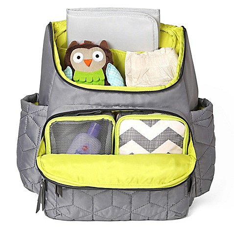 skip hop forma backpack diaper bag in grey buybuy baby. Black Bedroom Furniture Sets. Home Design Ideas