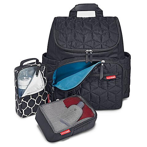skip hop forma backpack diaper bag in black bed bath beyond. Black Bedroom Furniture Sets. Home Design Ideas
