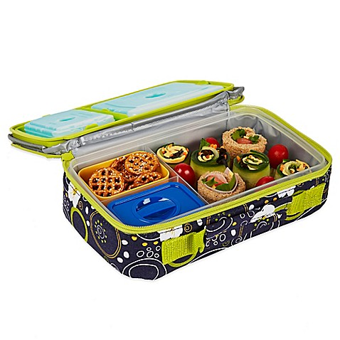 buy fit fresh bento lunch box kit in blue from bed bath beyond. Black Bedroom Furniture Sets. Home Design Ideas