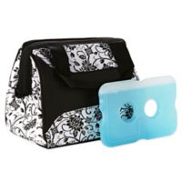 Fit & Fresh® Downtown Insulated Lunch Bag in Ebony Floral