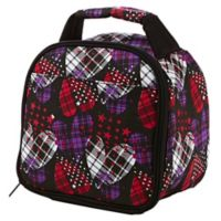 Fit & Fresh® Kids Gabby Plaid Heart Print Insulated Lunch Bag in Black