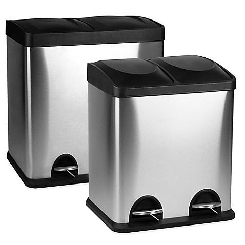 dual recycle trash bin bed bath beyond. Black Bedroom Furniture Sets. Home Design Ideas