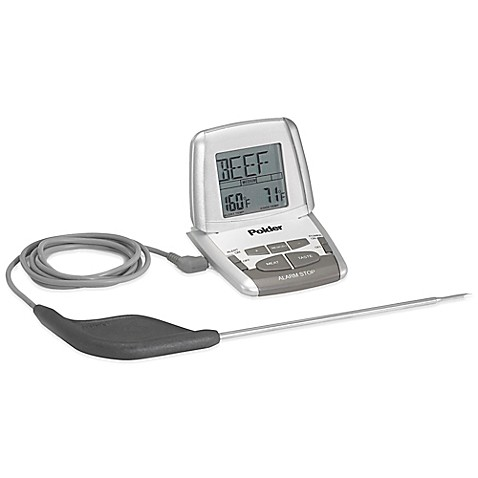 Polder 174 Deluxe Preset Oven Cooking Thermometer With Probe