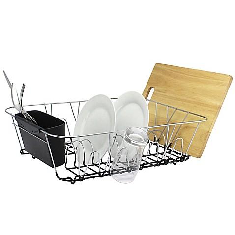 Large Dish Rack In Chrome Bed Bath Amp Beyond