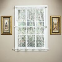 Today's Curtain Richmond Macram 36-Inch Window Curtain Tier in White