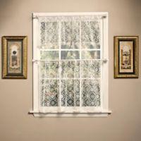 Today's Curtain Richmond Macram 24-Inch Window Curtain Tier in Ecru