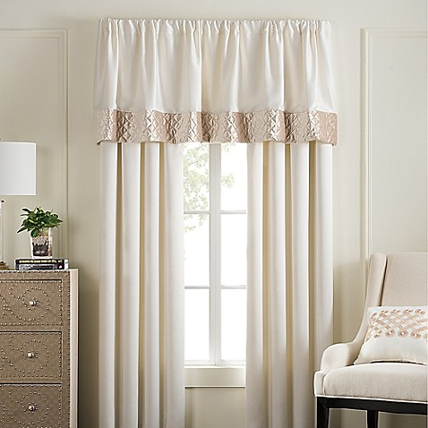Pearl Stripe Window Curtain Panel Pair And Valance Bed Bath Beyond