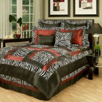Sherry Kline Jungle Queen Comforter Set in Black/White