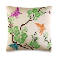 J by J. Queen New York Carla Square Throw Pillow in Natural