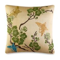 J by J. Queen New York Carla Square Throw Pillow in Antique
