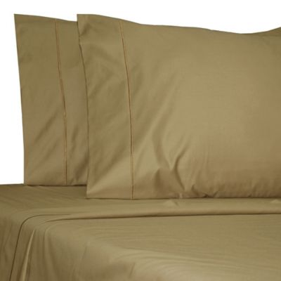 damask solid egyptian cotton olympic queen sheet set in mocha