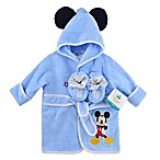 Disney® Mickey Size 0-6M 2-Piece Terry Bathrobe and Booties Set