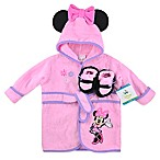 Disney® Size 0-6M Minnie 2-Piece Terry Bathrobe and Booties Set