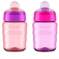 AVENT 2-Pack 9 oz. My Easy Sippy Cup in Pink/Purple