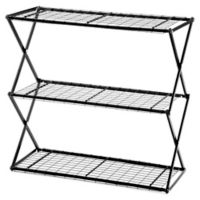 Exy 3 Tier Lift and Lock Storage Shelf Tower in Black