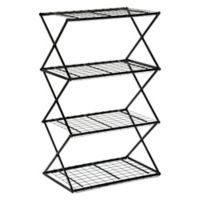 Exy 4 Tier Lift and Lock Storage Shelf Tower in Black