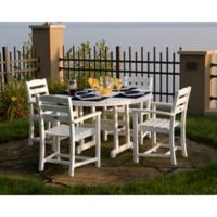 POLYWOOD® La Casa 5-Piece Outdoor Dining Table Set in White