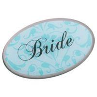 Lillian Rose™ Bride Oval Pin in Aqua
