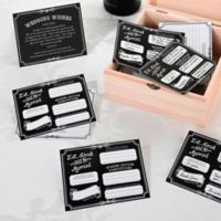 Lillian Rose™ Wishes Cards in Black (Set of 48)