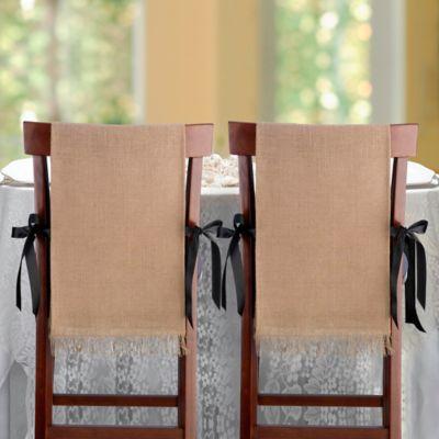 Buy Lillian Rose Quot Mr Quot And Quot Mrs Quot Burlap Chair Covers