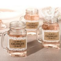 "Lillian Rose™ ""Celebrate"" Burlap and Lace Glass Wraps (Set of 6)"