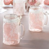 Lillian Rose™ Lace Glass Covers (Set of 4)