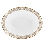 Waterford® Lismore Diamond Gold Oval Vegetable Dish